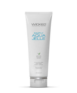 Wicked Simply Aqua Jelle - Water Based Anal Lubricant - 120 ml (4 oz) Bottle