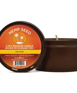 Hemp Seed 3-In-1 Massage Candle - Hot Rod (Fuschia Peonies