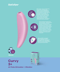 Satisfyer Curvy 3+ - App Contolled Touch-Free USB-Rechargeable Clitoral Stimulator with Vibration