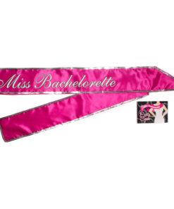 Miss Bachelorette Sash - Hot Pink Hens Party Sash