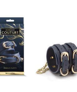 Bondage Couture Ankle Cuffs - Blue Restraints