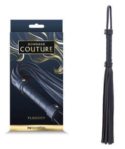 Bondage Couture Flogger - Blue Flogger Whip