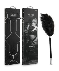 Noir Soft Feather Tickler - Black Feather Whip