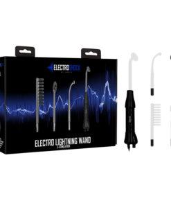 ELECTRO SHOCK Lightning Wand - Purple E-Stim Kit - 5 Piece Set