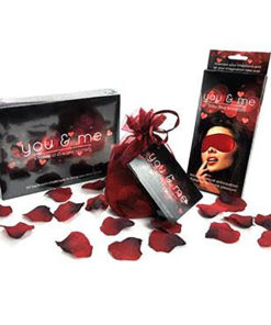 You And Me Lovers Bundle - Couples Game with Blindfold & Rose Petals