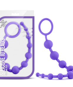 Luxe - Silicone 10 Beads - Purple 31.75 cm (12.5'') Anal Beads