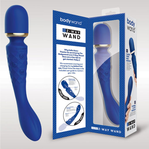 Bodywand Luxe 2-Way Wand - Blue USB Rechargeable Massage Wand