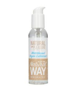 Natural Pleasure Waterbased Vegan Lubricant - Water Based Lubricant - 150ml Bottle