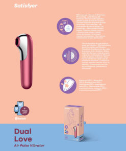 Satisfyer Dual Love - App Contolled Touch-Free USB-Rechargeable Clitoral Stimulator