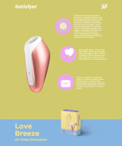 Satisfyer Love Breeze - Touch-Free USB-Rechargeable Clitoral Stimulator with Vibration
