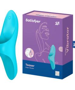 Satisfyer Teaser - Light Blue USB Rechargeable Finger Stimulator