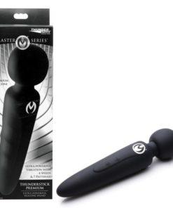 Master Series Thunderstick - Black 24 cm USB Rechargeable Massager Wand