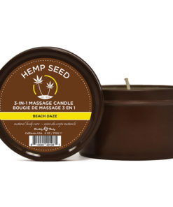 Hemp Seed 3-In-1 Massage Candle - Beach Daze (Coconut & Pineapple) Scented - 170 g
