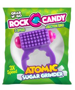 Rock Candy Atomic Sugar Grinder - Purple 3-Speed Vibrating Cock Ring
