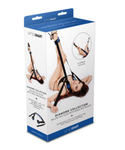 WhipSmart Diamond Deluxe Sex Sling with Ankle Restraints - Blue Sling and Restraints